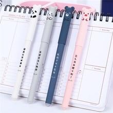 Animals Erasable 0.35mm Gel Pen Cute Panda Cat Magic Line Pens Lot Muji Pens Kawaii Gel Pen For School Writing Office Stationery