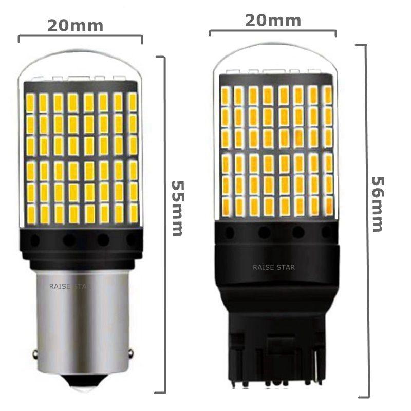 1PC T20 7440 W21W LED Bulbs 3014 144smd led CanBus No Error 1156 BA15S P21W BAU15S 1PC T20 7440 W21W LED Bulbs 3014 144smd led CanBus No Error 1156 BA15S P21W BAU15S PY21W led lamp For Turn Signal Light No Flash