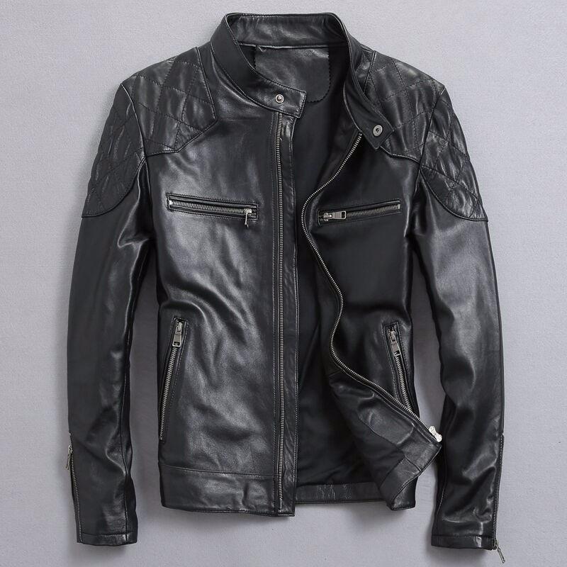 David Beckham Men's Genuine Leather Jacket