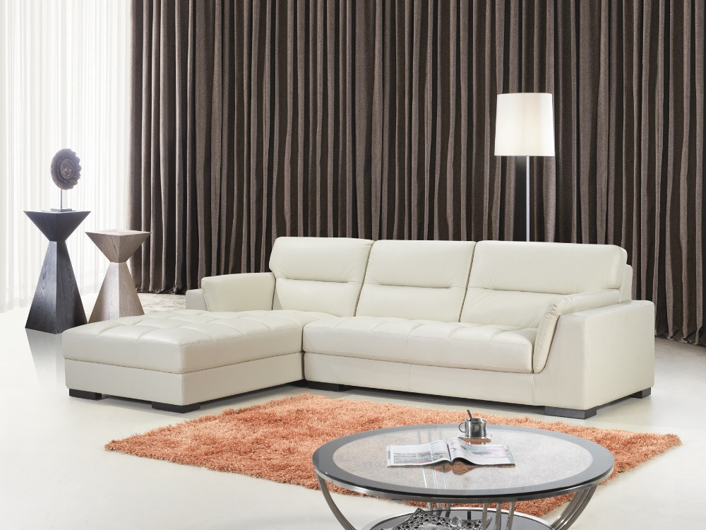 modern genuine leather combined sofa living room sofa in home delivery