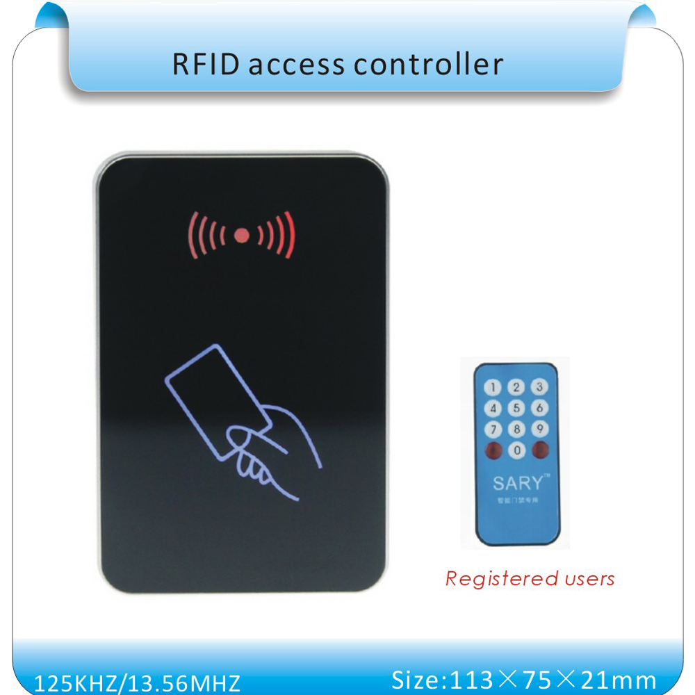 2015 Newest SY - 1599 RFID 135.6MHZ blue LED entrance guard /access control system/ Access control card reader+10pcs cards