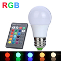RGB LED Lamp 3W E27 110V 220V Lampada LED RGB Bulb LED Light High Power Christmas Lights 16 Colors Change + IR Remote Controller