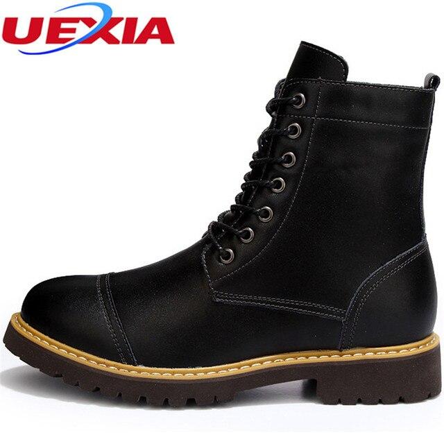 Hommes Bottes Bottes plates hiver neige Bottes épais en peluche cheville pour hommes chauds Chaussures Casual Botas,or,10