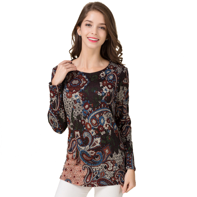 100% lã das mulheres camisetas femme impressão 2 camadas quente clothing mulheres Longas Da Luva da Mulher Casual T-shirt Camiseta Feminina T-shirt topos