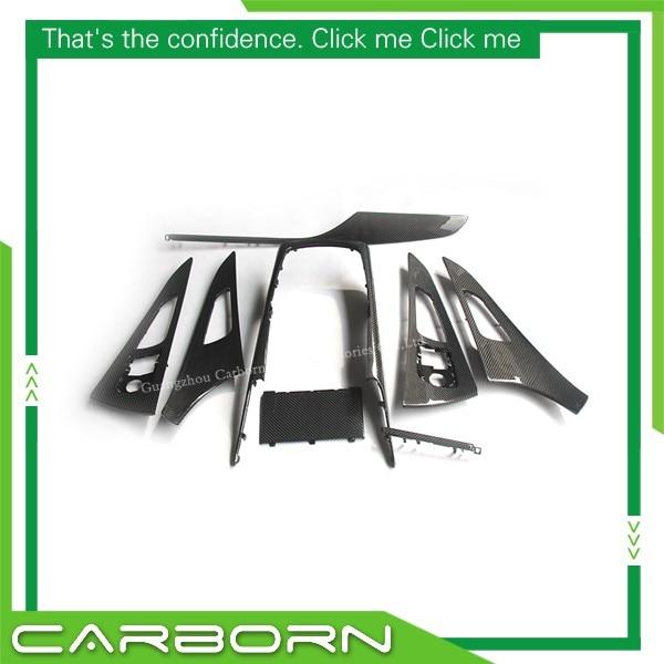 Pour Audi A6 2012 2013 2014 2015 2016 2017 Remplacement Style Fiber De Carbone Couverture Intérieure Garniture 8 pièces Set Gauche conduite à Seulement