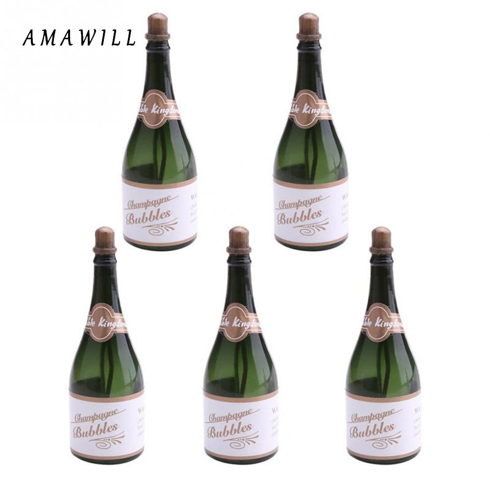 AMAWILL Wedding Decorations Mini Empty Champagne Bottle Cake Shape ...