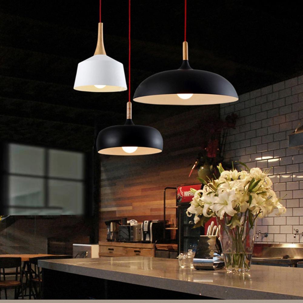 moderno colgante de luz de estilo nrdico de luminarias de suspensin colgantes lmpara de luz de techo rstico de madera de la