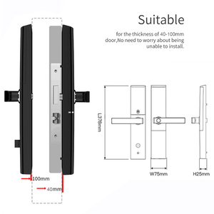Image 5 - חכם דלת טביעת אצבע מנעול אבטחת בית Keyless נעילת Wifi סיסמא RFID כרטיס מנעול אלחוטי App שלט Gateway משלוח