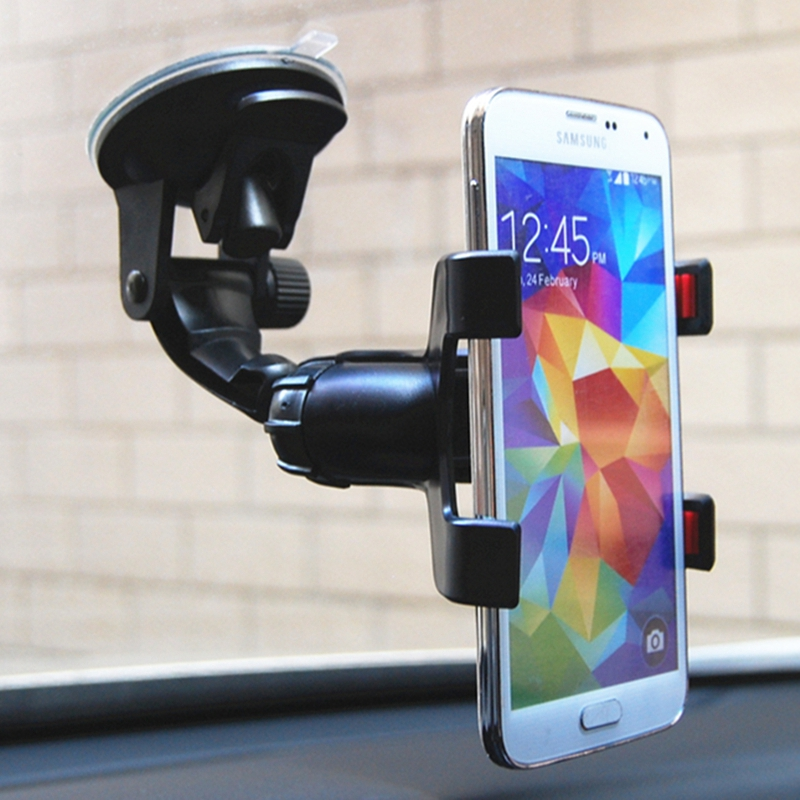 Extendable Car Holder Clip Windshield Car Phone Holder 360 Rotatable Stand Mount Support GPS Display Car Phone Holder Stand