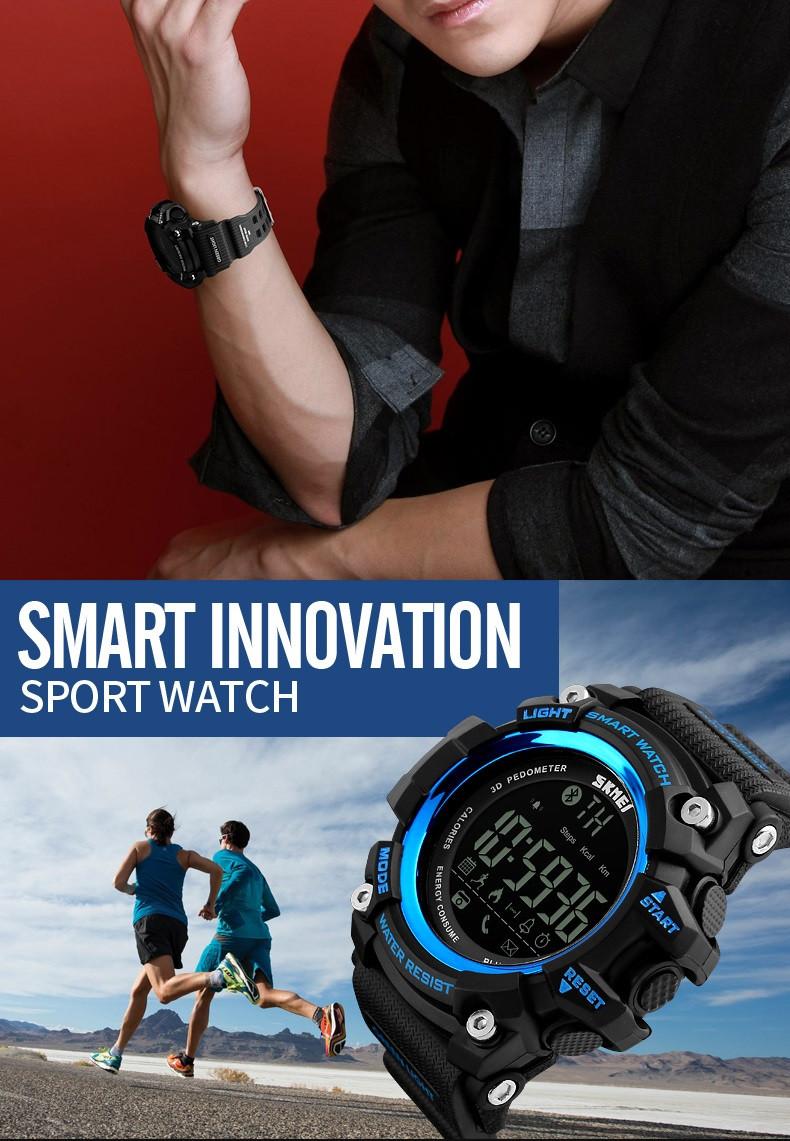 eda51cc51 اسم العلامة التجارية: SKMEI حركة: ساعة ذكية الرياضة نوع: في الهواء الطلق  الرياضة الساعات نقطة بيع: الرقمية ساعة ذكية ، بلوتوث ربط دعم: الروبوت و فون  IOS ...