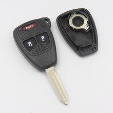 Дистанционного Ключа Shell, пригодный для CHRYSLER DODGE JEEP Автомобиля Ключеник 2B + Паники Резиновая Клавиатура С ЛОГОТИПОМ