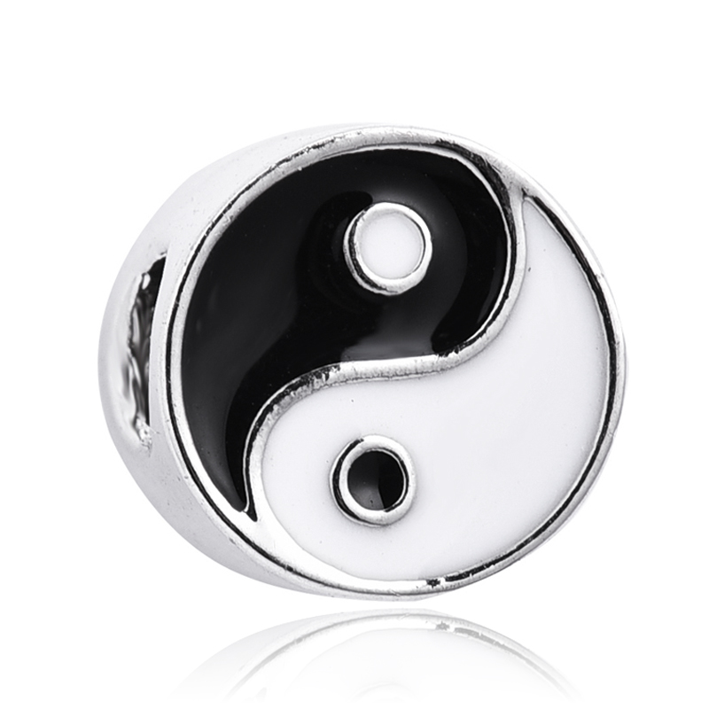 New arrival Silver Yin-yang Bead Charm Fit European Pandora Charm Bracelets Jewelry Making Accessories