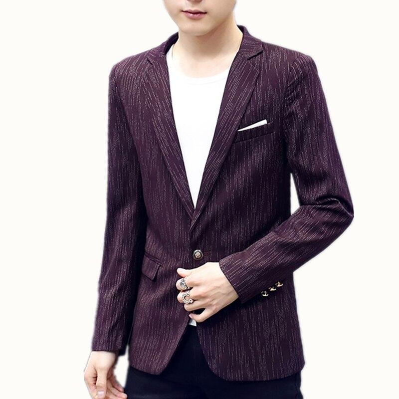 Blazer Casaco Masculino 2018 England Style Cotton Mixed Blazer Slim Fit Americana Hombre Blazers Men Suits Casual Blazer Homme
