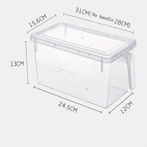 Image 2 - 2 шт кухонный прозрачный PP ящик для хранения зерна содержит герметичный Домашний Органайзер контейнер для еды холодильник коробки для хранения