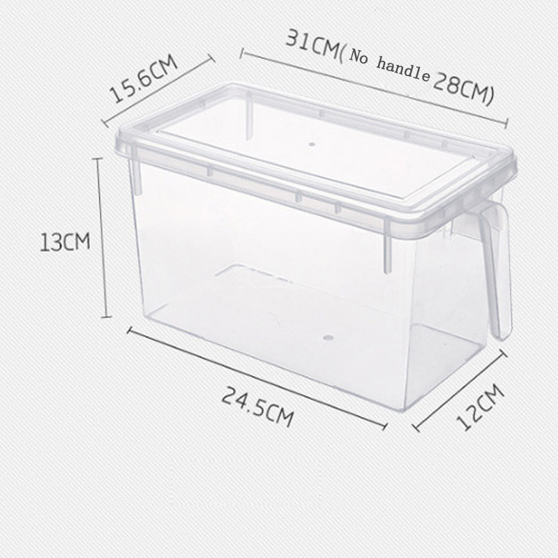 Image 2 - 2Pcs Kitchen Transparent PP Storage Box Grains Contain Sealed Home Organizer Food Container Refrigerator Storage Boxes-in Storage Boxes & Bins from Home & Garden