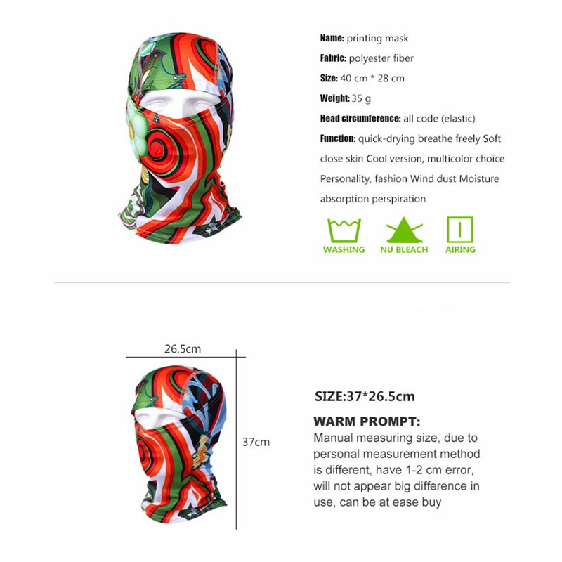 Image 5 - 2019 New 3D Outdoor sport mask Cycling Bike Bicycle Riding Face  Mask Scarf Scarves Bandana Magic Headband Protect Full Face Maskface  maskoutdoor sports maskcycling mask