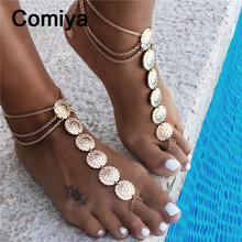 Золото серебро покрытием сплава цинка мульти слои Индийский цепи ювелирные изделия браслеты цветы аксессуары браслеты лодыжки для женщин заявление