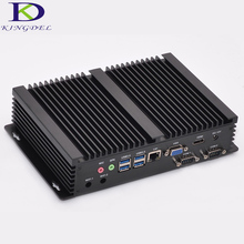 Kingdel 2016 New arrival fanless mini industrial Computer 16GB RAM Intel i3 4010u 5005U i5 4200U CPU 2 COM RS232 HDMI