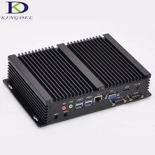 Kingdel 2016 Новинка поступление безвентиляторный мини-промышленный компьютер 16 ГБ Оперативная память Intel i3 4010u 5005U i5 4200U Процессор 2 com RS232 HDMI