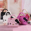 Nuevos diseñadores mini bolso lindo niños hello kitty Bowknot bolso de asas de los niños niñas Bolsa de Hombro mini bolso al por mayor