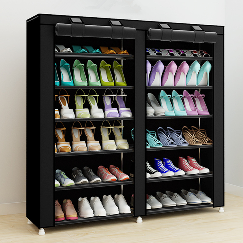 43.3-inch 7-layer 9-grid Non-woven fabrics large shoe rack organizer removable shoe storage for home furniture shoe cabinet 43 3 inch 7 layer 9 grid non woven fabrics large shoe rack organizer removable shoe storage for home furniture shoe cabinet