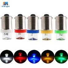 Led para carro, branco, azul, âmbar, verde, vermelho, ba9s, t4w, t11, 1 led, cores mistas, 12v dc, com 10 peças lâmpada led automóvel veículo luzes reversas