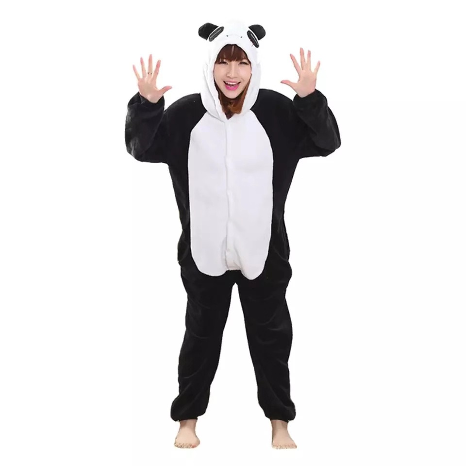 Adults Animal Kigurumi onesie Panda   Pajamas     Set   Winter Flannel Pyjamas Women Men Unisex Stitch Unicorn Pijimas Hooded Sleepwear