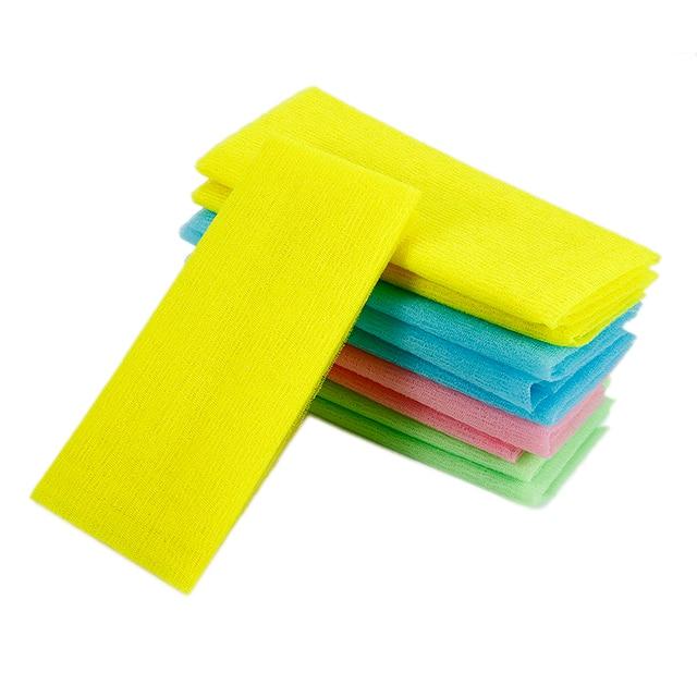 1 Pcs Nylon Exfoliating Bath Shower Body Cleaning Washing Scrubbing Towel Scrubbers Products Random Color TSLM2 3