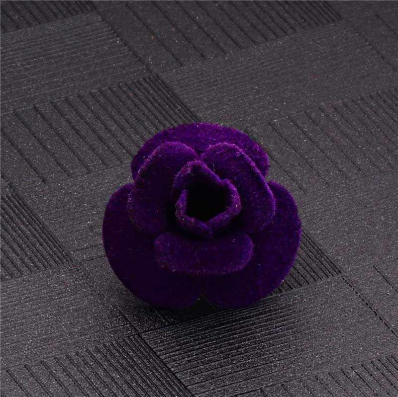 H: Hyde 5 Warna Indah Kain Flanel Mawar Bunga Bros Shinning Dekorasi Perjamuan Aksesori Mulia Bros Pin untuk Wanita