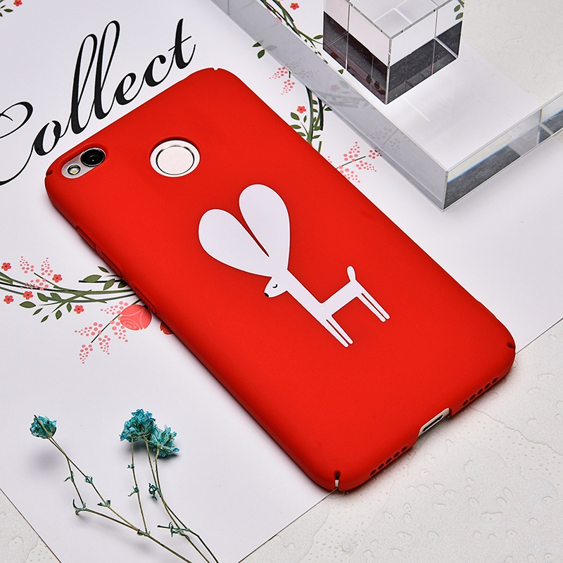 TOMKAS Cute PC Case For Xiaomi Redmi 4X Note 4X Mi A1 Cases Cover Back Patterned Matte Phone Case For Redmi 4X 5.0 Inch (4)