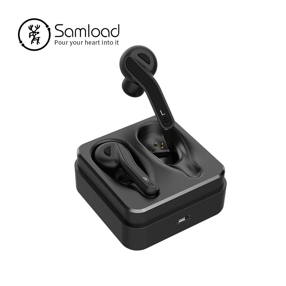 Samload Bluetooth 5.0 Écouteurs Binaural appels Sans Fil Casque Stéréo Casque Sport Basse Écouteurs Pour Apple iPhone7 8 Xiaomi