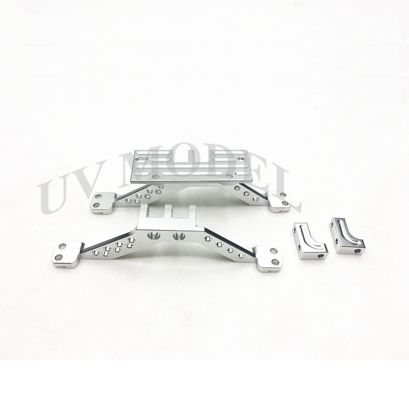 2pcs/set Silver Aluminum 4 Link Rod Axle Mount For Axial SCX 10 CC01 F350 D90 RC4WD Front Axle & Rear Axle tc02311010047 tc0231101004 the housing for front axle