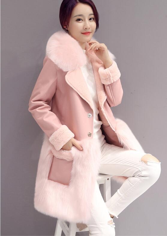 De Pardessus Épaisse 3xl Mode Femme Chaude Faux Rose En Hiver Des Haute Femmes Couture Fausse À Fourrure Qualité Lapin Long S Cheveux 8qwOpYp