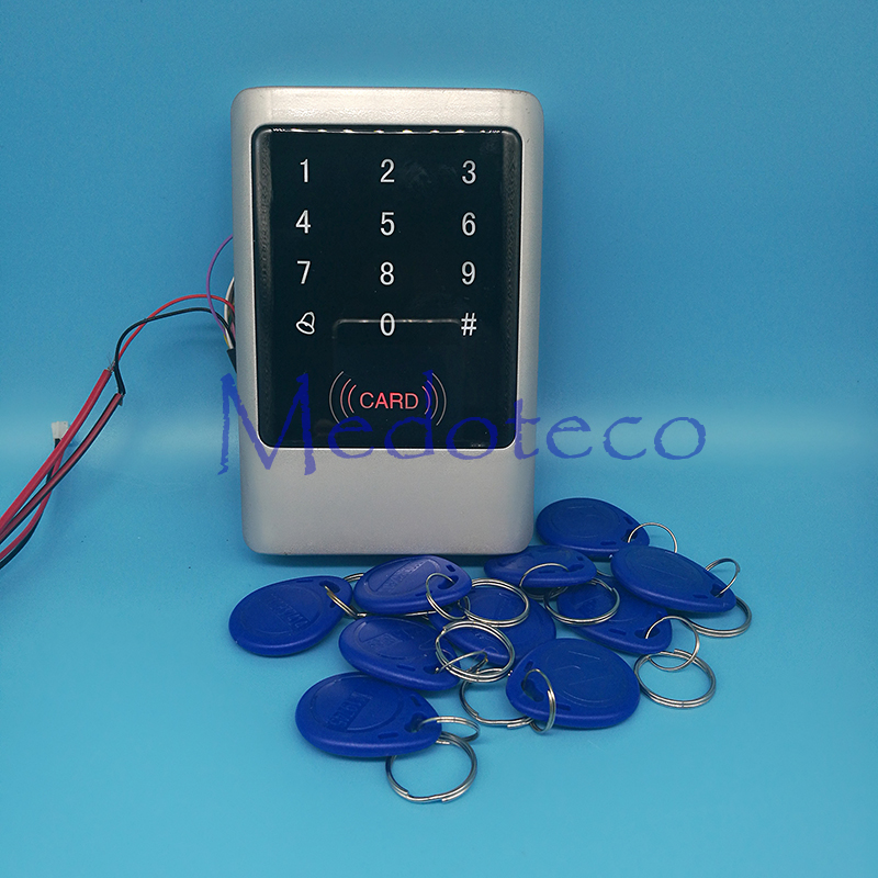IP68 Waterproof Rfid Access Controller 125Khz EM Card Access Control Outdoor Metal Case Access Control System with touch keypad