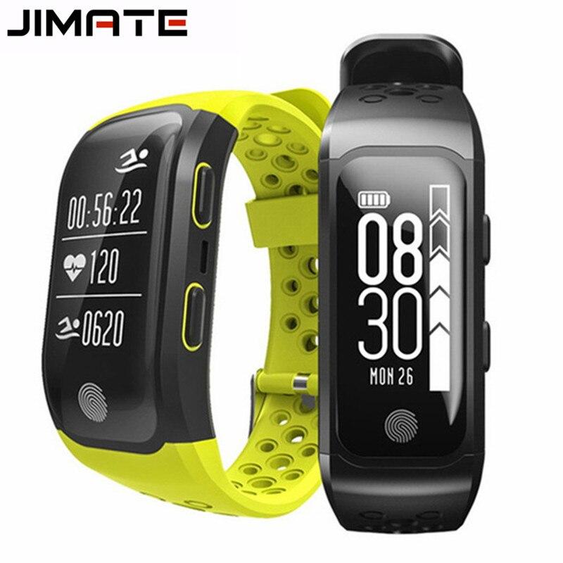 Jimate G03 GPS Tacker pulsera inteligente IP68 impermeable nadar SmartBand Monitor de ritmo cardíaco S908 pulsera para Android IOS banda-in Pulseras inteligentes from Productos electrónicos on AliExpress - 11.11_Double 11_Singles' Day 1