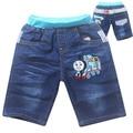 2015 new hot sale embroidery cartoon boys girls shorts fashion summer kids children denim jeans shorts trousers