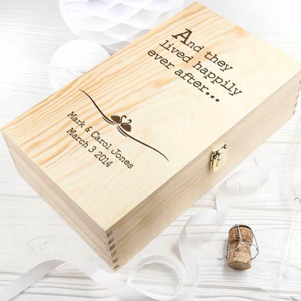 1 pc fournitures de fête Festive boîte à vin personnalisation personnalité boîte cadeau faveur de mariage peut contenir 2 bouteilles de vin rouge