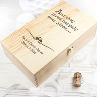 1pc Festive party supplies Wine box customization personality gift box wedding favor can hold 2 bottles of red wine