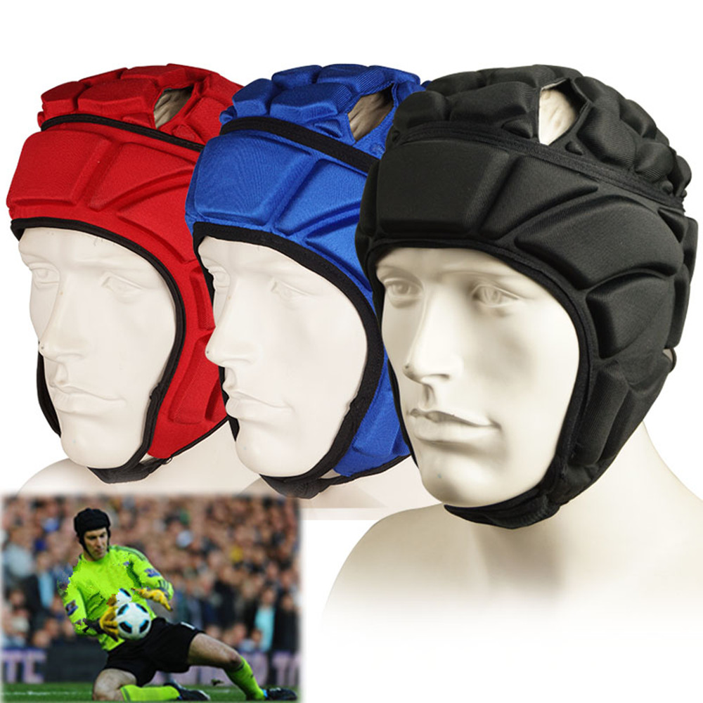 Profession Skateboard Football Soccer Goalkeeper Helmet Sports Rugby Scrum Cap Goalie Roller Hat Fiber Head Guard Protector ...
