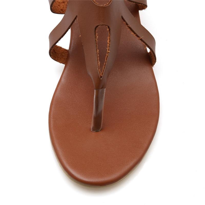Del Tacones Bajos Gladiador Botas Pie De Beige Moda Enmayla Dedo Las Sandalias Verano black Mujeres Zapatos Mitad Señoras Abierto Recortes brown Cuñas wx87qzp