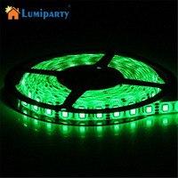 Lumiparty ledストリップdc12v 60 leds/m 5メートル柔軟なledライトrgb 5050 ledストリップクリスマス照明ロープ照明屋外防