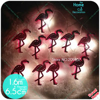 New 10leds Flamingo Decoration String Lights Pink Flamingo Gift Girls Bedroom Patio Lamp Fairy Party Home