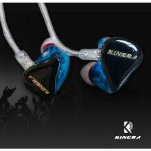 Original KINERA H3 Hybrid 1 Dynamic Driver+2 Armature In-ear Monitor Headphones Professional Music Sport Running Earphones Wired