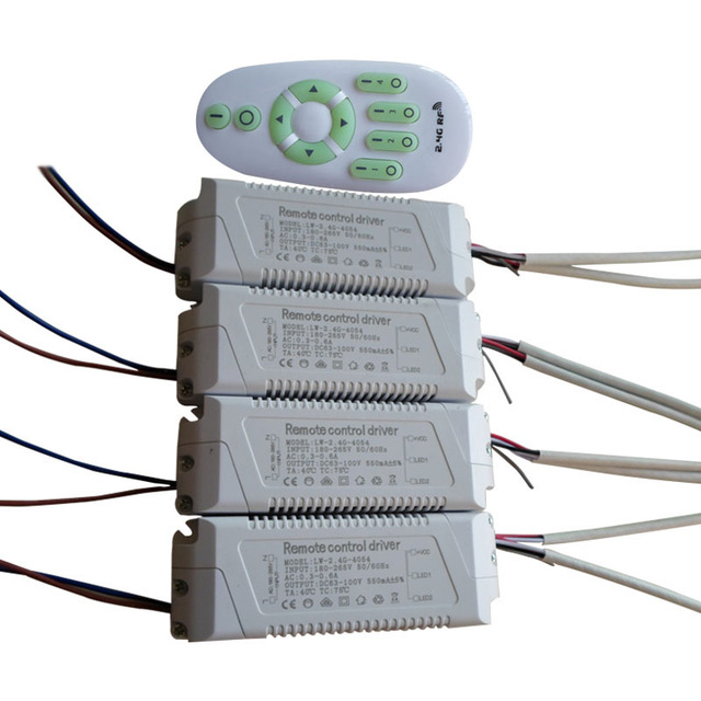 купить 40-54W 550mA 2.4G remote control LED driver lighting transformer for color-changeable,dimming panel light downlight ceiling lamp онлайн