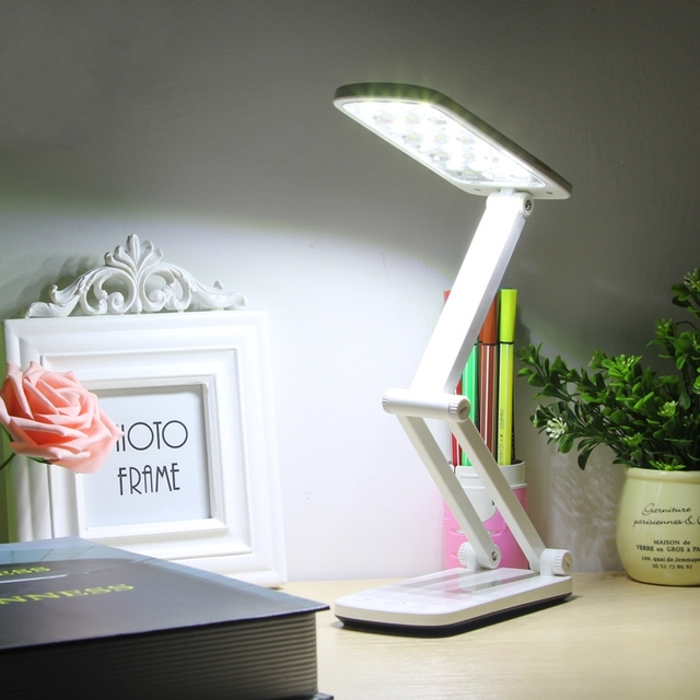 Adjustable Folding Table Lamp 30 LED Desk Lamp Chargeable Energy-saving Eye-protected Studying Lamp Touch lamp Control IY106155
