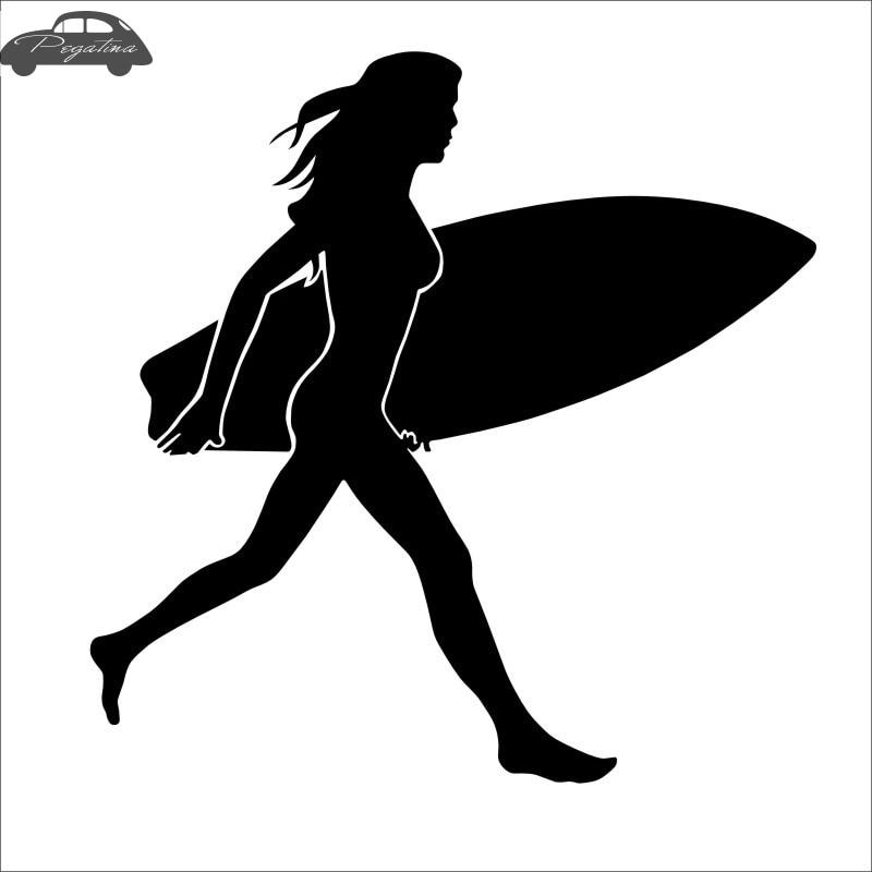2 Vinyl Kayak Stickers WOMENS LADIES GIRLS colours including metallics