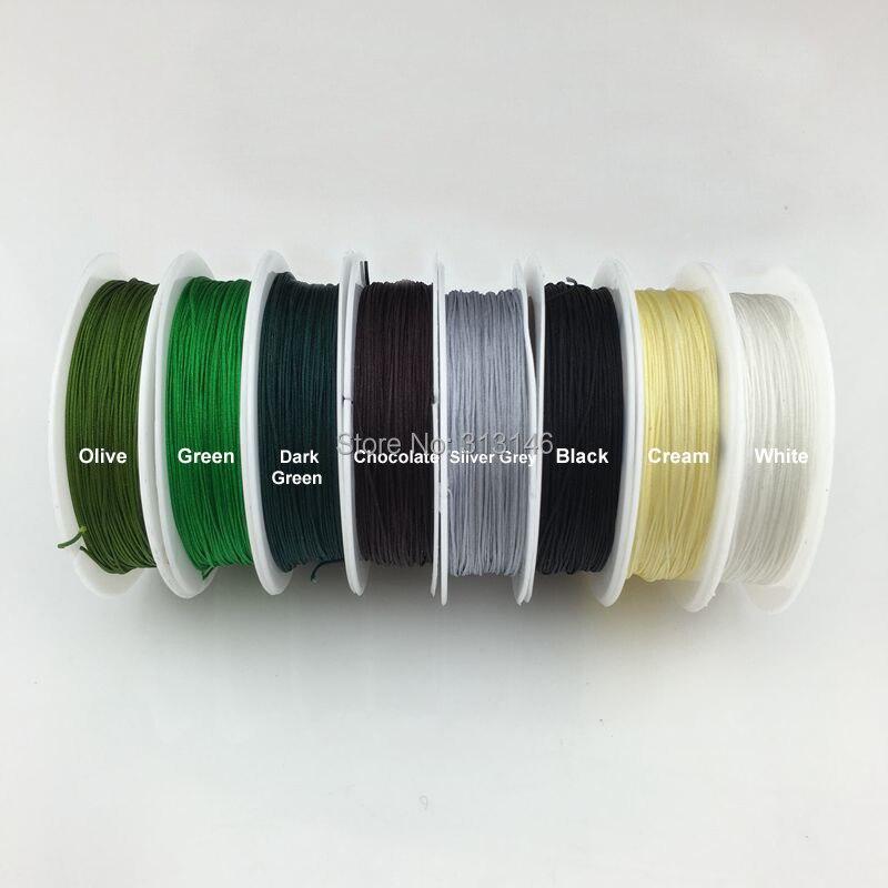 Chinese Knot Nylon Shamballa Macrame Braiding Cord Beading String Thread Black