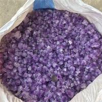 Bulk Wholesale Flower Shape Natural Amethyst Crystal Tumbled Stones