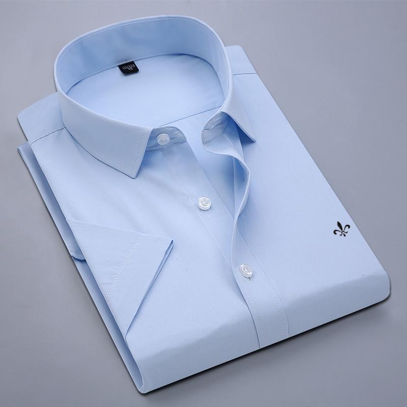 Image 5 - Dudalina Camisa Male Shirt Short Sleeve Men Shirt Brand Clothing Casual Slim Fit Camisa Social Masculina Chemise Homme No PocketCasual Shirts   -