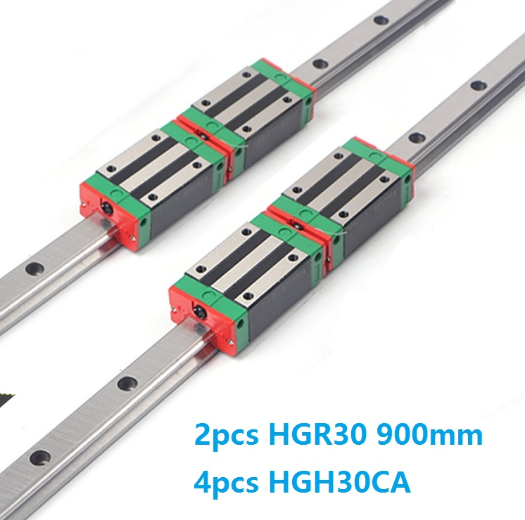 China Made 2pcs Linear Guide Rail HGR30 -L 900MM + 4pcs HGH30CA Or HGW30CC Block Carriage CNC router China Made 2pcs Linear Guide Rail HGR30 -L 900MM + 4pcs HGH30CA Or HGW30CC Block Carriage CNC router